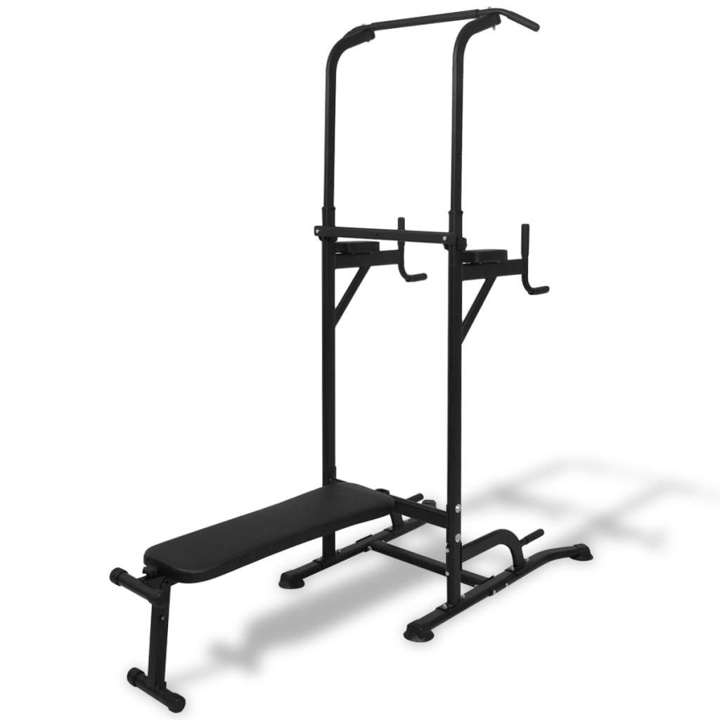 Acheter vidaxl tour de musculation avec banc d 39 assise pas cher - Banc de musculation solde ...
