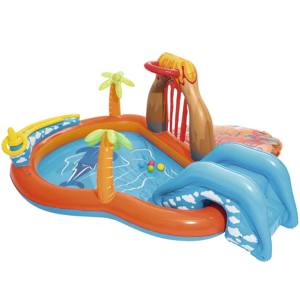 bestway centro gioco scivolo d 39 acqua laguna di lava 53069. Black Bedroom Furniture Sets. Home Design Ideas