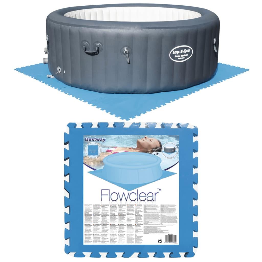 Afbeelding van Bestway Zwembadbodem beschermers blauw 8 st 58220
