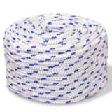 vidaXL Námořní lodní lano, polypropylen, 8 mm, 100 m, bílá