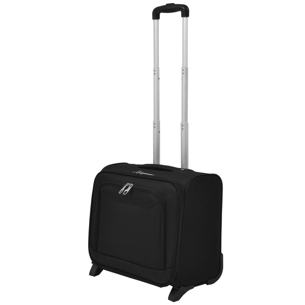 vidaXL fekete pilóta bőrönd