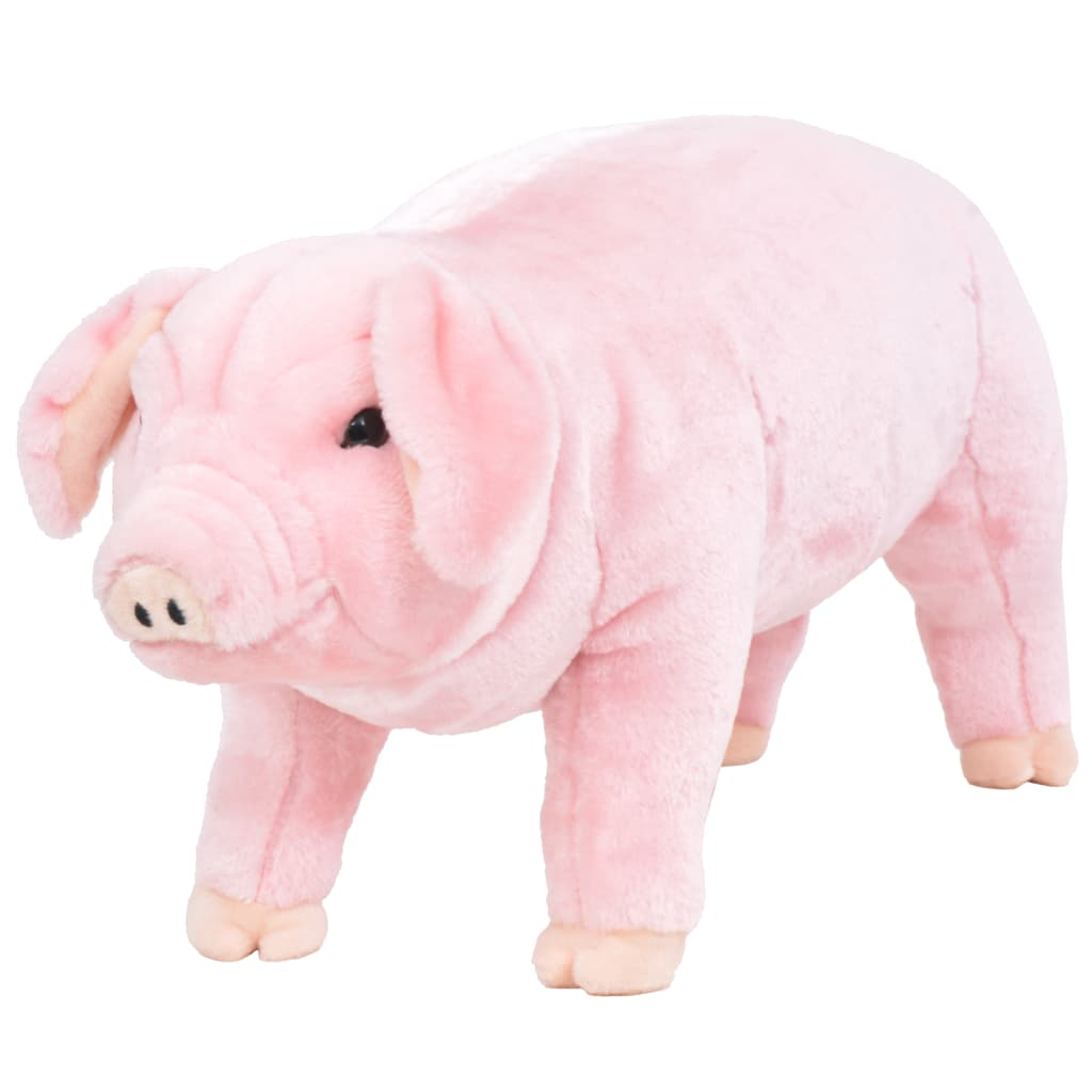 vidaXL álló, pink plüssmalac XXL